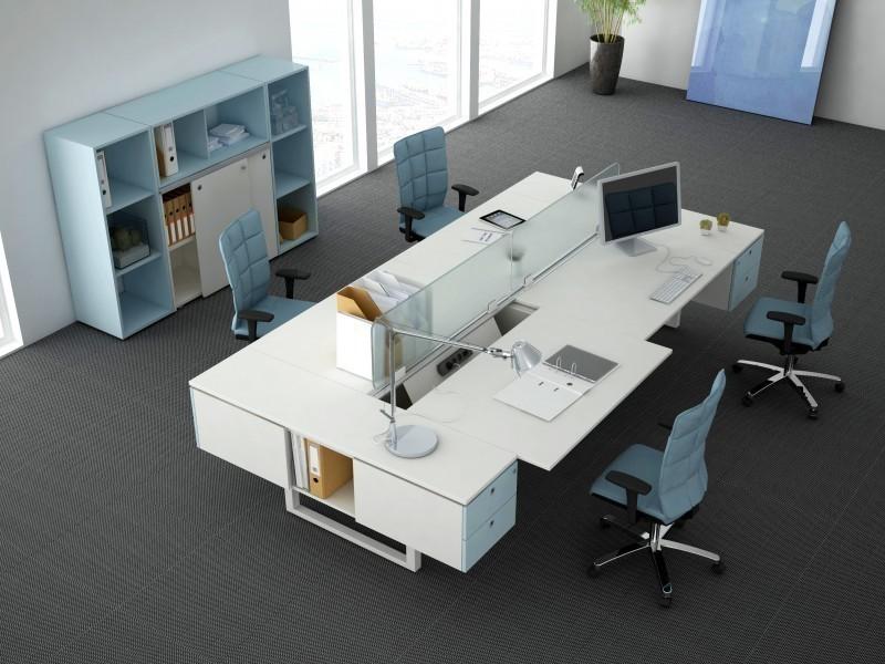 стол в офис белый