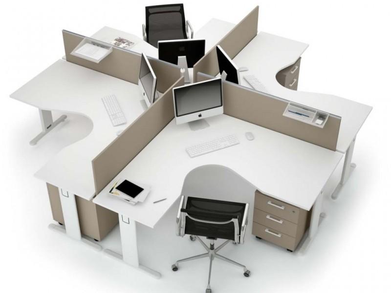 расстановка мебели в маленьком офисе