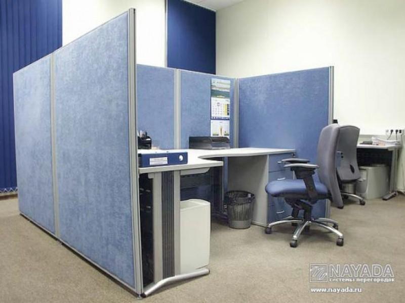 один из видов офисных перегородок