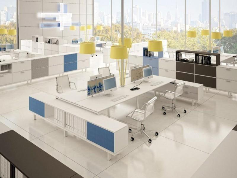 расстановка офисной мебели